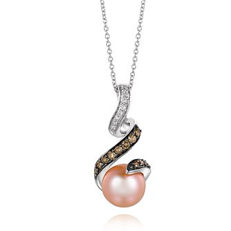 Le Vian 14ct Vanilla Gold Diamond & Pearl Pendant - Product number 3574016