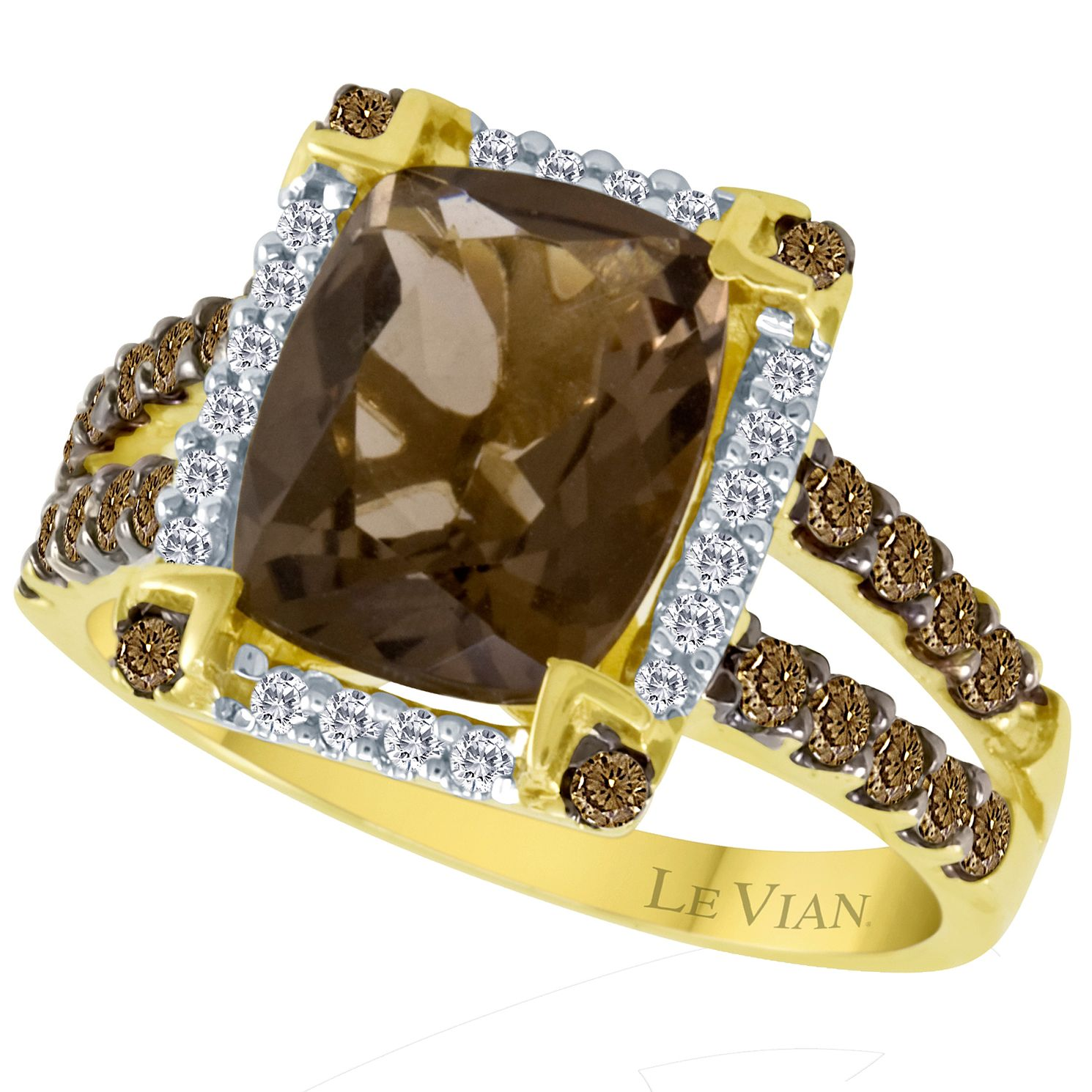Le Vian 14ct Honey Gold Diamond & Quartz Ring - Product number 3574660