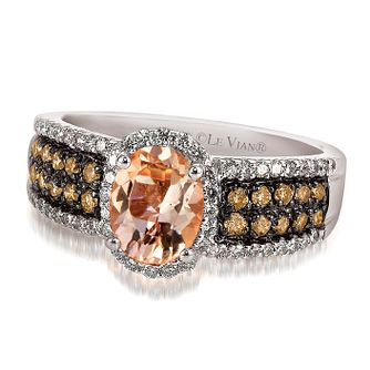 Le Vian 14ct Vanilla Gold and Peach Morganite ring - Product number 3576515