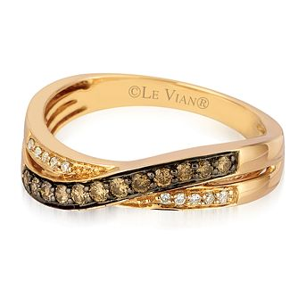 Le Vian 14ct Strawberry Gold 0.25ct Chocolate Diamond Ring - Product number 3577783