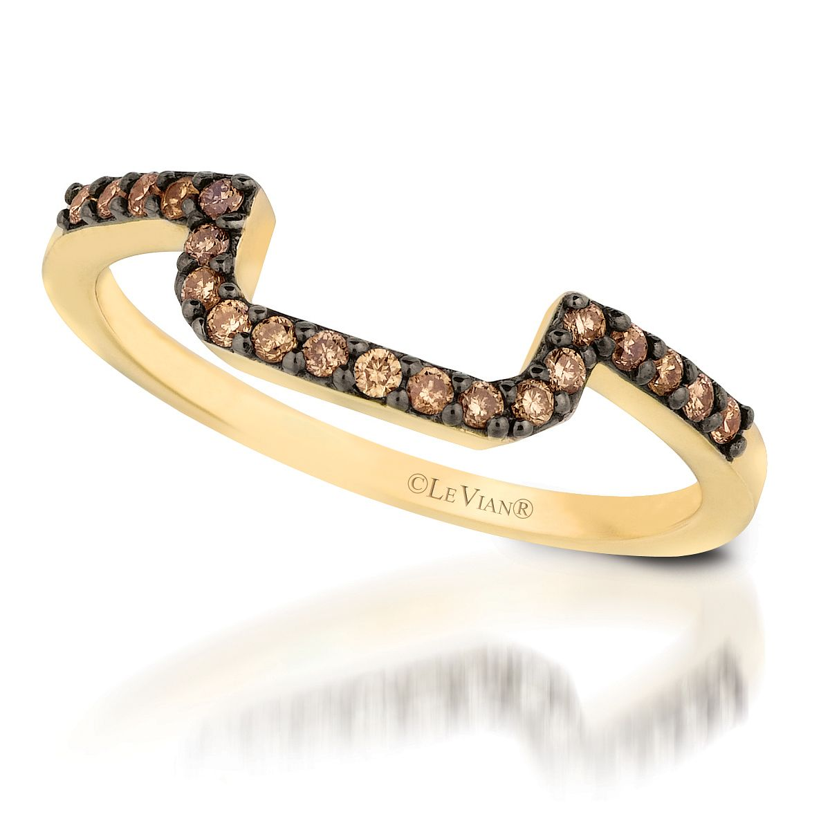 Le Vian 14ct Honey Gold 0.18ct Chocolate Diamond Band - Product number 3579441