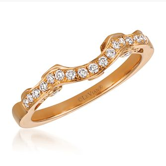 Le Vian 14ct Strawberry Gold Diamond Shaped Ring - Product number 3582558