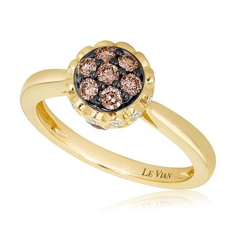 Le Vian 14ct Honey Gold Chocolate Diamond Ring - Product number 3582744