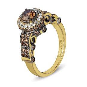 Le Vian 14ct Honey Gold Chocolate Diamond Shaped Band - Product number 3579999