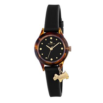 Radley Watch It Ladies' Black Dial Silicone Strap Watch - Product number 3588912