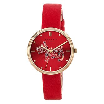 Radley Rosemary Gardens Ladies' Red Leather Strap Watch - Product number 3589137