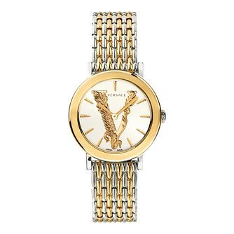 Versace Virtus Ladies' Two Tone Bracelet Watch - Product number 3594661