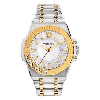 Versace Chain Reaction Men's Two-Tone Bracelet Watch - Product number 3594688