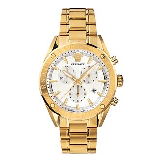Versace V-Chrono Men's Two Tone Bracelet Watch - Product number 3594734