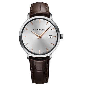 Raymond Weil Toccata men's brown leather strap watch - Product number 3595714