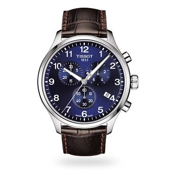 Tissot Chrono XL Men's Brown Leather Strap Watch - Product number 3597245