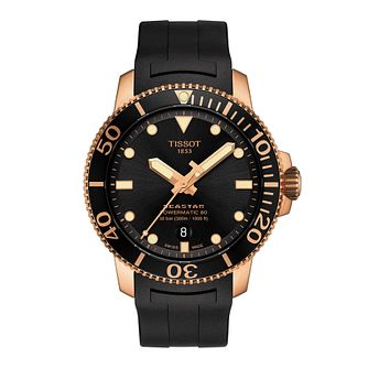 Tissot Seastar 1000 Silicium Men's Black Rubber Strap Watch - Product number 3597253