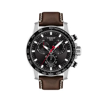 Tissot SuperSport Chrono Men's Brown Leather Strap Watch - Product number 3597415
