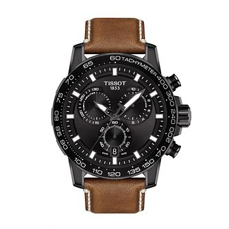 Tissot SuperSport Chrono Men's Tan Leather Strap Watch - Product number 3597431