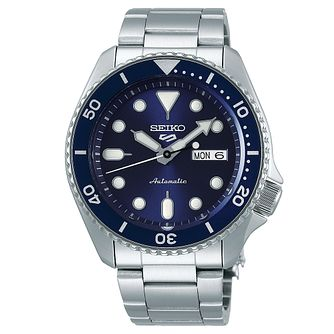Seiko Sports 5 Men's Stainless Steel Bracelet Watch - Product number 3597555