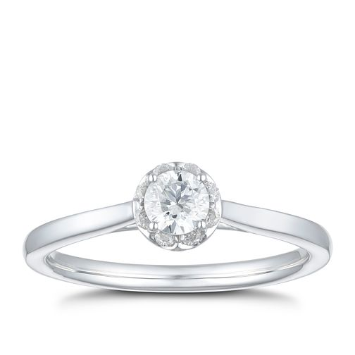 9ct White Gold 2/5ct Diamond Solitaire Ring - Product number 3597601