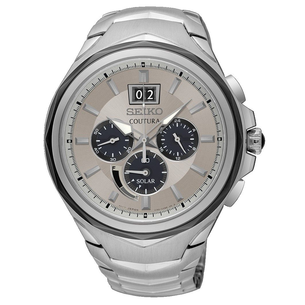 Seiko Coutura Chronograph Stainless Steel Bracelet Watch - Product number 3598020