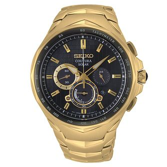 Seiko Coutura Chronograph Yellow Gold Tone Bracelet Watch - Product number 3598047