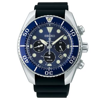 Seiko Prospex Sumo Chronograph Men's Silicone Strap Watch - Product number 3598098