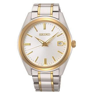 Seiko Classic Men's Black Leather Strap Watch - Product number 3598187