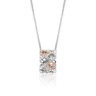 Clogau Tudor Court Silver & Rose Gold Pendant - Product number 3608972
