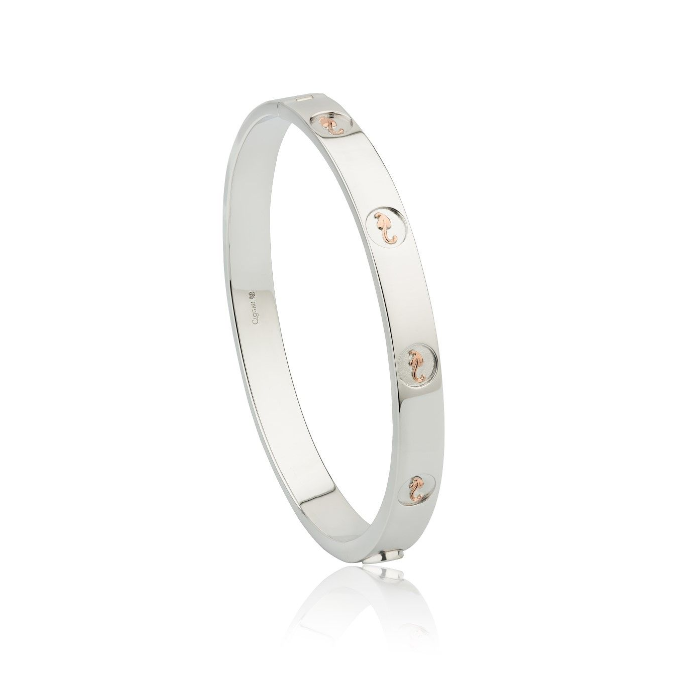 Clogau Tree Of Life Silver & 9ct Rose Gold Bangle - Product number 3609731
