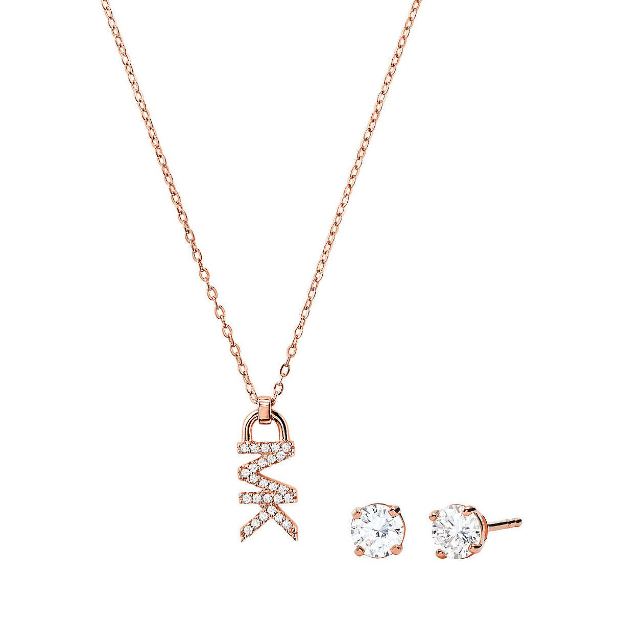 Michael Kors Rose Gold Plated Earrings & Logo Pendant - Product number 3610160