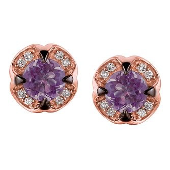 Le Vian Ladies' 14ct Strawberry Gold Grape Amethyst Earrings - Product number 3610594