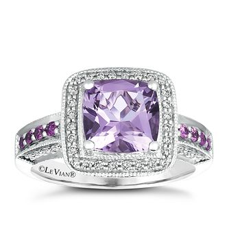 Le Vian 14ct Vanilla Gold Cotton Candy Amethyst Diamond Ring - Product number 3610616
