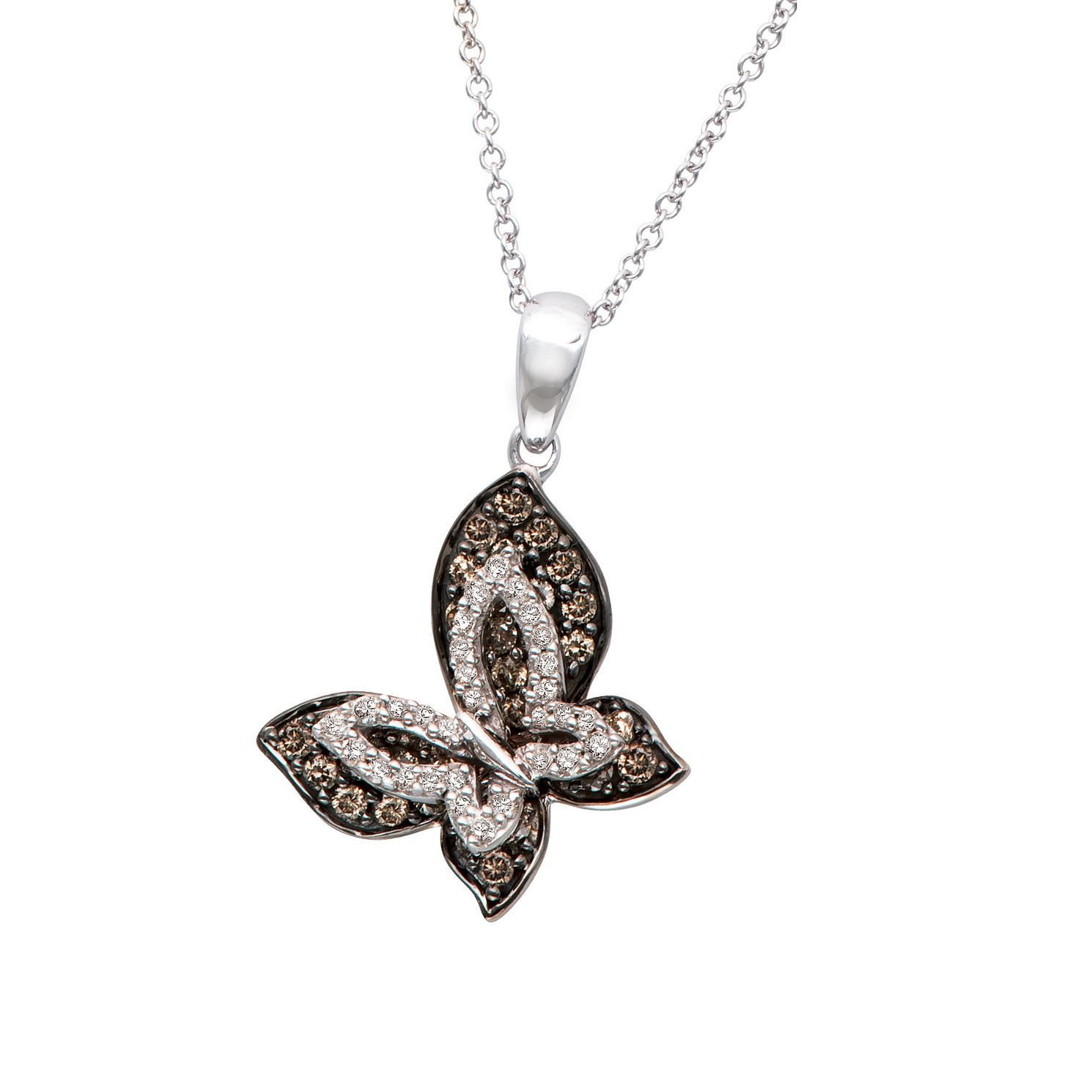 Le Vian 14ct Vanilla Gold Diamond Butterfly Pendant - Product number 3610845