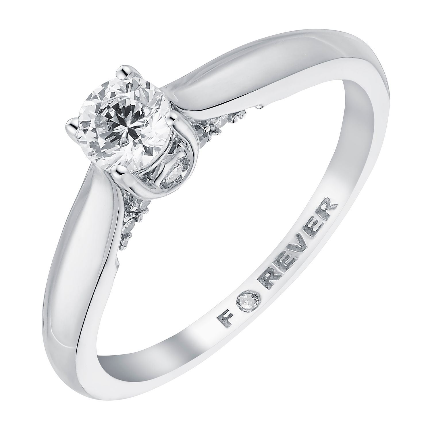 18ct White Gold 2/5 Carat Forever Diamond Ring - Product number 3617548