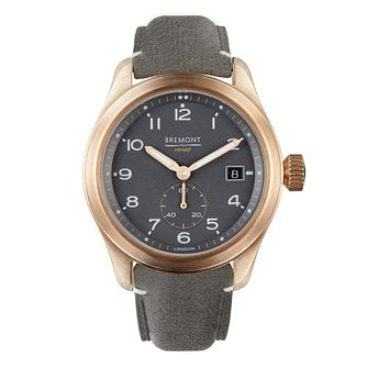 Bremont Broadsword Men's Grey Leather Strap Watch - Product number 3623009