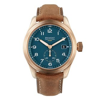 Bremont Broadsword Men's Brown Leather Strap Watch - Product number 3623254