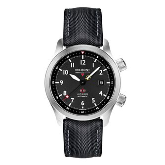 Bremont MBII-BL Men's Black Rubber Strap Watch - Product number 3623475