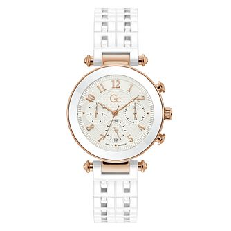 Gc PrimeChic Ladies' White Ceramic Bracelet Watch - Product number 3623890