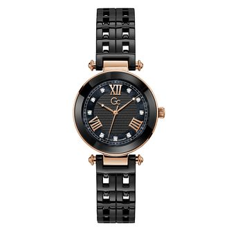 Gc PrimeChic Ladies' Black Ceramic Bracelet Watch - Product number 3623904