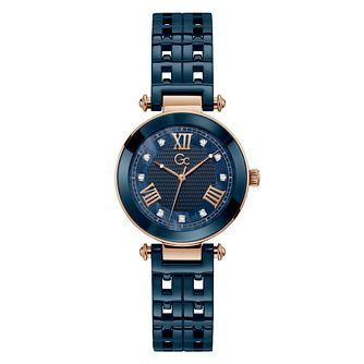 Gc PrimeChic Ladies' Blue Ceramic Bracelet Watch - Product number 3623912
