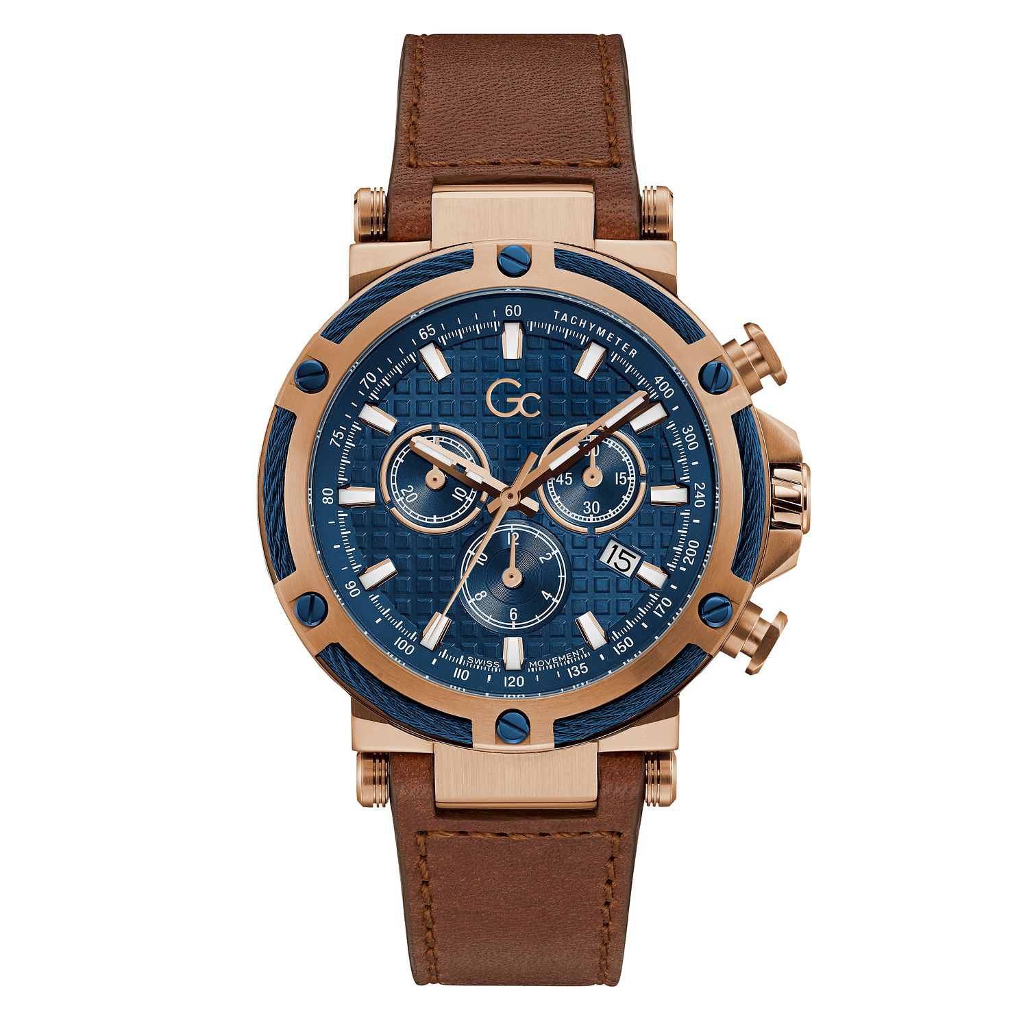 Gc UrbanCode Yachting Chrono Men's Brown Leather Strap Watch - Product number 3623920