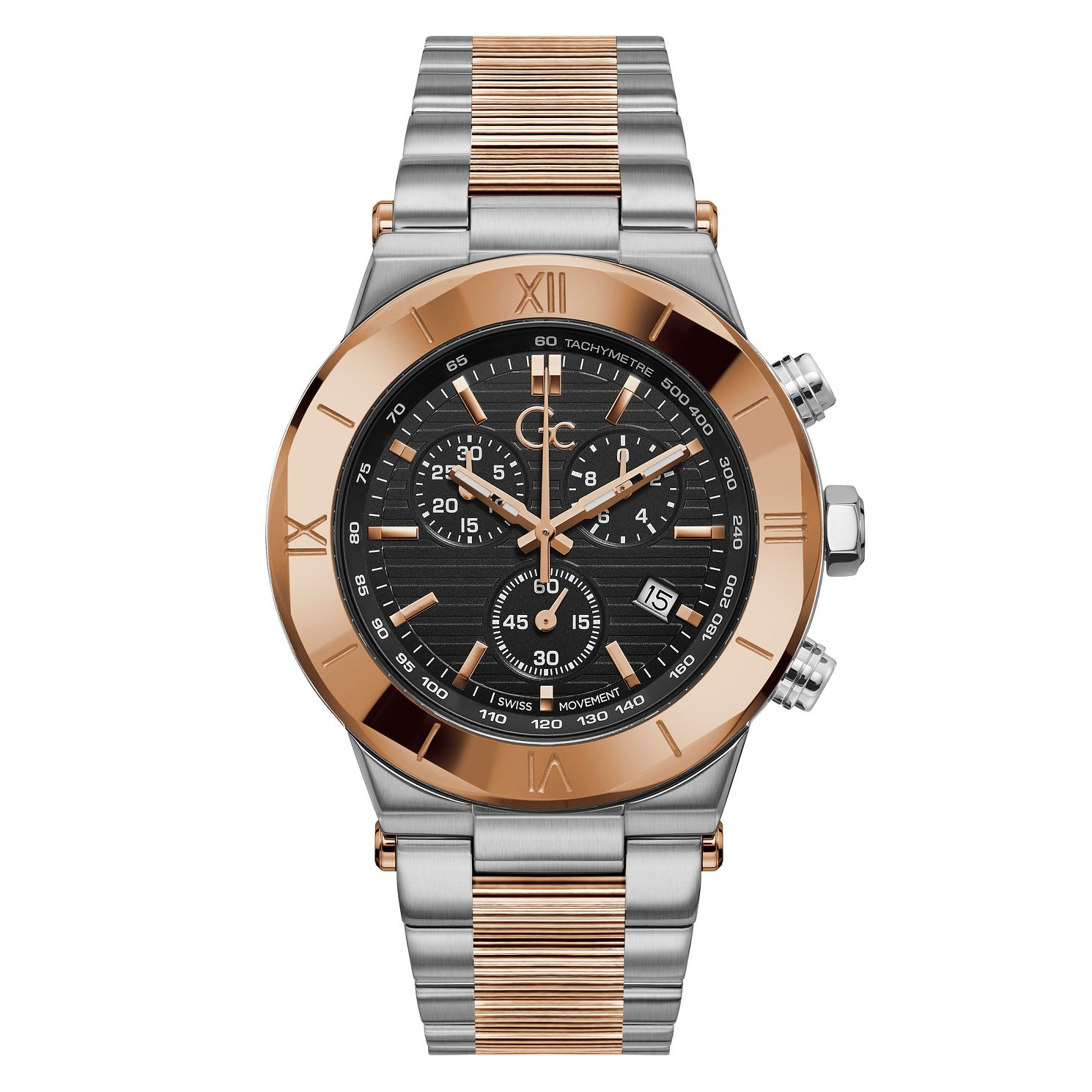 Gc Force Chrono Men's Two Tone Bracelet Watch - Product number 3624307