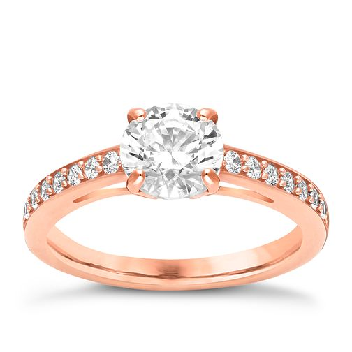 68591c714 Swarovski Attract rose gold-plated ring size P - Product number 3626741