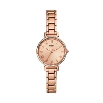Fossil Kinsey Ladies' Rose Gold Tone Bracelet Watch - Product number 3627098