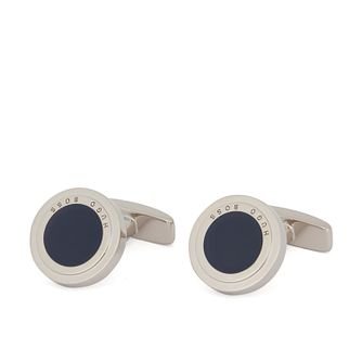 BOSS Teddie Men's Navy Blue Enamel Round Cufflinks - Product number 3627179