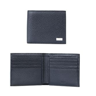 BOSS Crosstown Men's Navy Leather Wallet - Product number 3627349