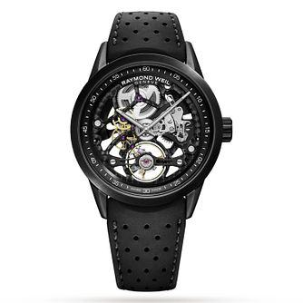 Raymond Weil Freelancer Skeleton Black Rubber Strap Watch - Product number 3627659