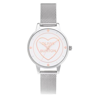 Olivia Burton Candy Shop Stainless Steel Mesh Bracelet Watch - Product number 3630447