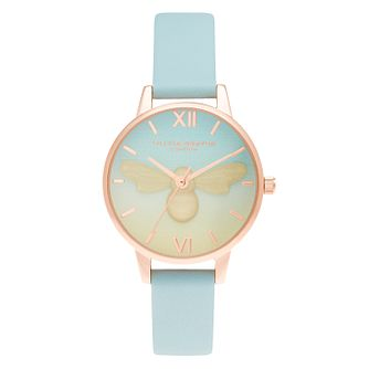 Olivia Burton Candy Shop Turquoise Leather Strap Watch - Product number 3630617