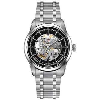 Hamilton men's stainless steel skeleton bracelet watch - Product number 3632296