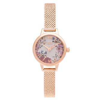 Olivia Burton British Blooms Rose Gold Tone Bracelet Watch - Product number 3632547