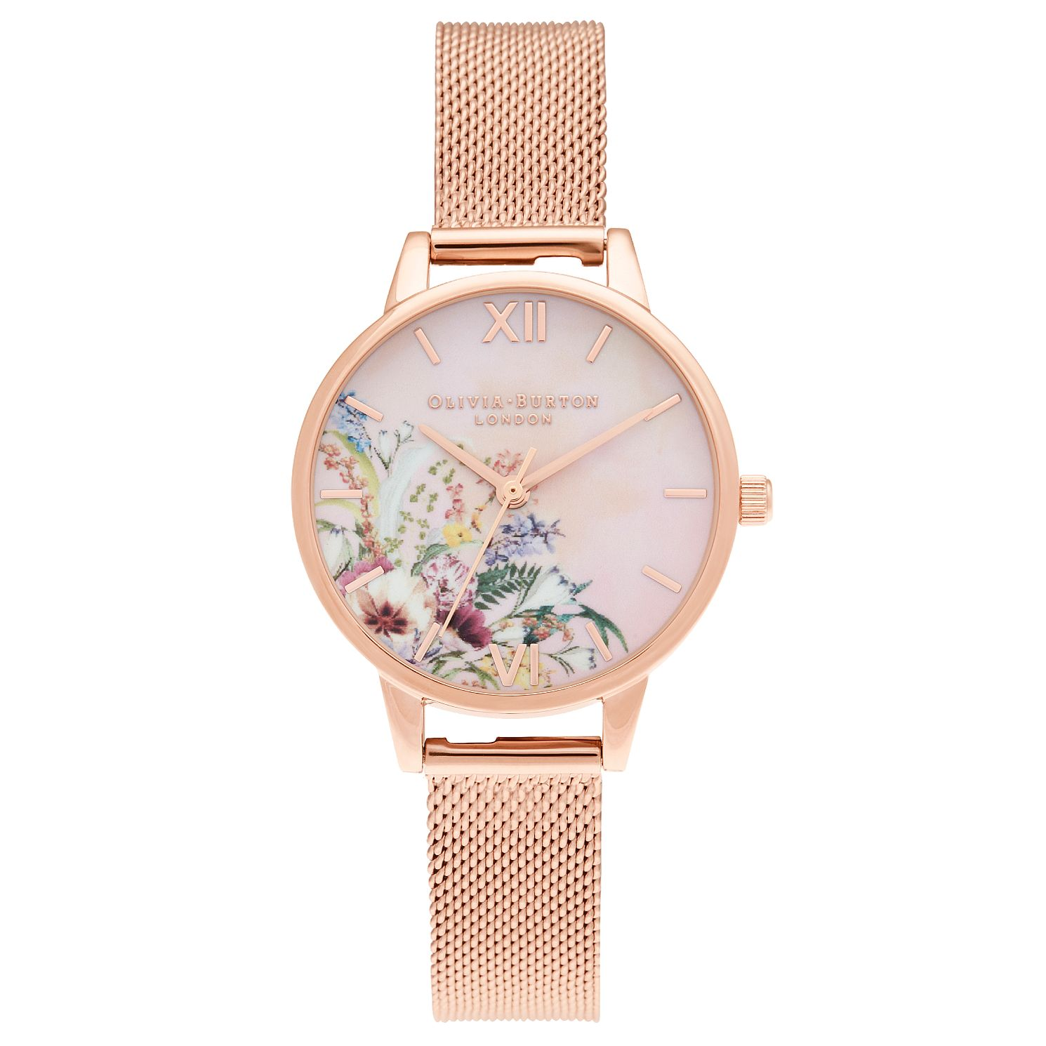 Olivia Burton Enchanted Garden Rose Gold Tone Bracelet Watch - Product number 3632555