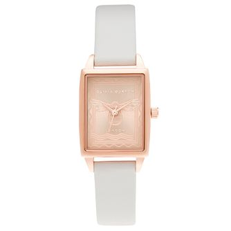 Olivia Burton London Stamp Pink Leather Strap Watch - Product number 3633365